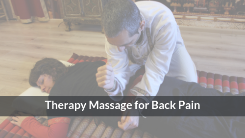 Therapy Massage for Back Pain